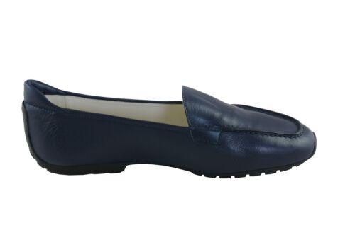 Mania Chaussures femmes mocassin fm25 bleu foncé Calf procar semelle en caoutchouc bleu