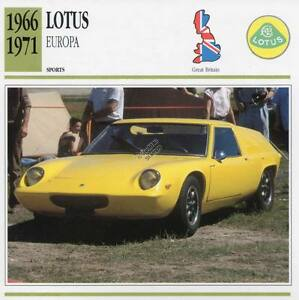 Image Is Loading 1966 1971 LOTUS EUROPA Sports Classic Car Photo
