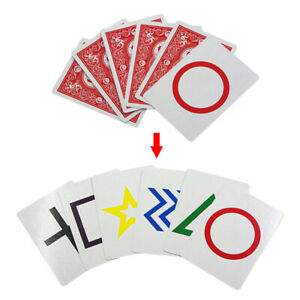 2-Sets-ESP-Classic-Cards-Group-Magic-Tricks-Easy-To-Do-Children-Kids-Magic-RC0T