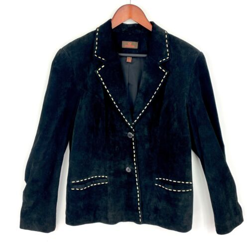 Danier Jacket Blazer Women Size Large L Leather Li
