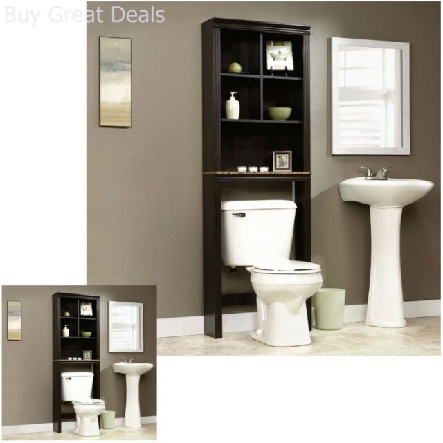 Bathroom Cabinet Over The Toilet Shelves Bath Towels Storage Organizer Shelf New