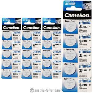 """""""20x Camelion Cr2032 Premium Lithium Batterie Cr 2032 Mit Einem LangjäHrigen Ruf"""