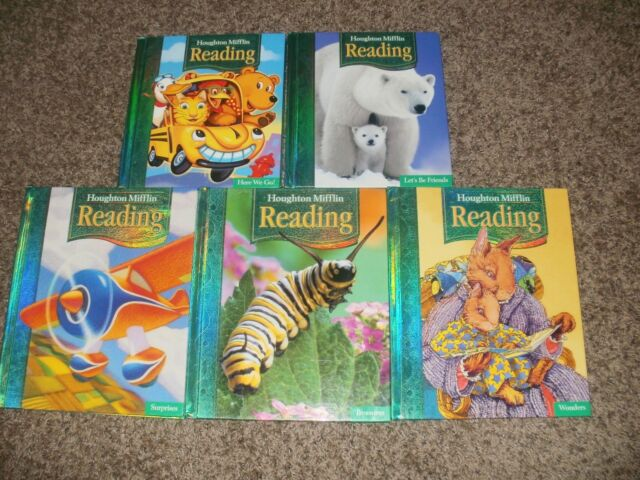 Houghton Mifflin READING 1st Grade 1 LOT Complete Set Of 5 Student Readers