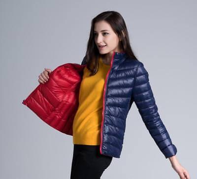 NEW Reversible Women/'s Ultralight Hooded Down Puffer Parka Jacket UNIQL 2019