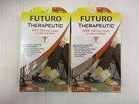 2 Futuro Therapeutic Open Toe Knee Length Unisex 71033 Medium Beige - Ew 7485j