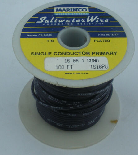 Marinco TS16PU 16 Gauge Purple Stranded Wire Tinned Copper 100 Ft 15568