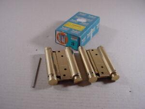 DORMA-Pendeltuerband-doppelt-wirkend-100mm-Gr-30-Stahl-vermessingt-Modell-M122
