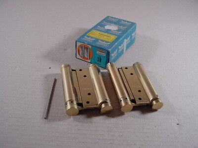 100mm Gr DORMA Pendeltürband doppelt wirkend 30 Stahl vermessingt Modell M122