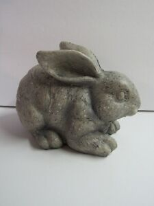 New Cast Resin Bunny Rabbit Laying Down 2327390