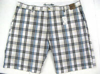 Pronto Uomo Shorts Mens 46 Cotton Plaid Check Flat Front Retail $65