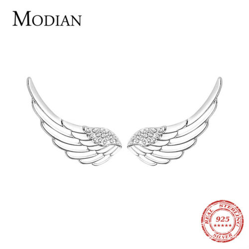 Flügel Engel Himmel Design Ohrringe Ohrstecker Stecker 925 Sterling Silber Neu