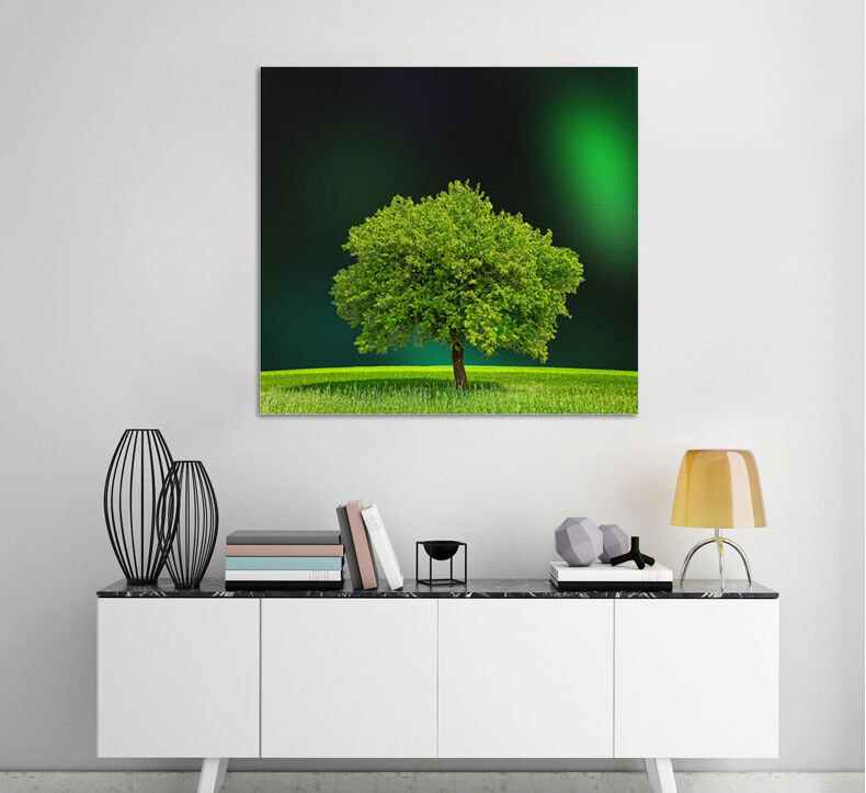 3D Grün Tree 2 Wall Stickers Vinyl Murals Wall Print Decal Deco Art AJ STORE AU