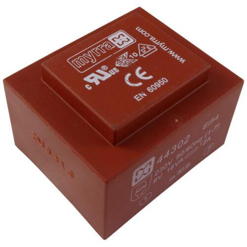 MYRRA 44302 transformateur 16va 230 V 9 V 1778 ma printtrafo transformateur 856502