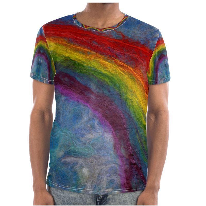 Rainbow Unisex TShirt XS-7XL Handmade 100% Cotton Summer Clubwear Festival Pride
