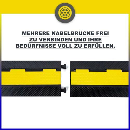 3 x 2 Kanäle Kabelbrücke Schlauchbrücke Kabelmatte Kabelschutz Überfahrschutz