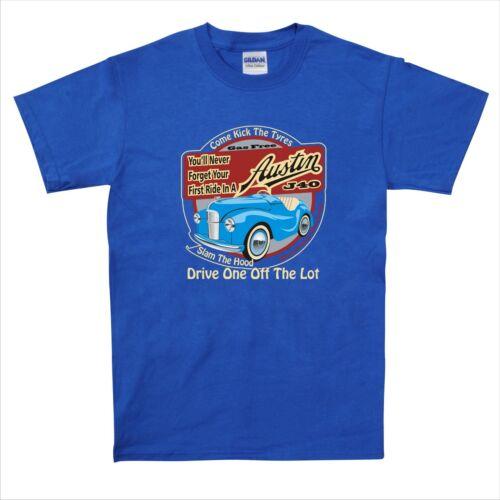 AUSTIN J40 PEDALE Car T-Shirt Classico Design Retrò standard BEL REGALO S-2XL