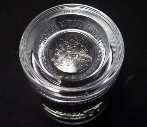 KETEL ONE VODKA 2 SHORT COCKTAIL ROCKS TUMBLER DRINK GLASSES NOLET CREST ITALY!
