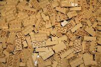 200 Tan 2x4 Building Blocks, Compatible To Lego 2x4 Bricks 3001 Bulk Lot Deal