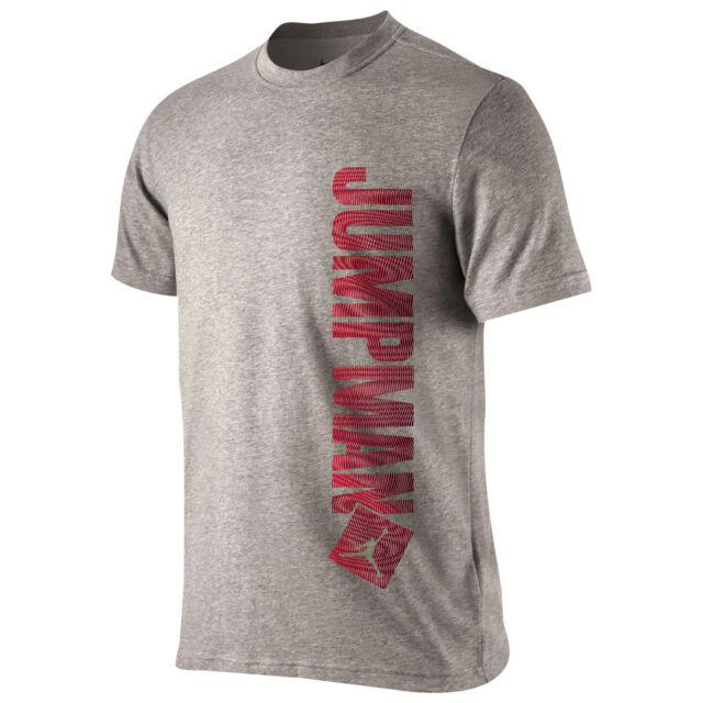 72d3e1756e6 Nike Jordan Jumpman Verticle T Shirt 789631-063 Mens XL Gray for ...