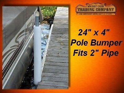 "Round Dock Post Pipe Pole Bumper Cushion Fender 24""x4"" API-RPB244"