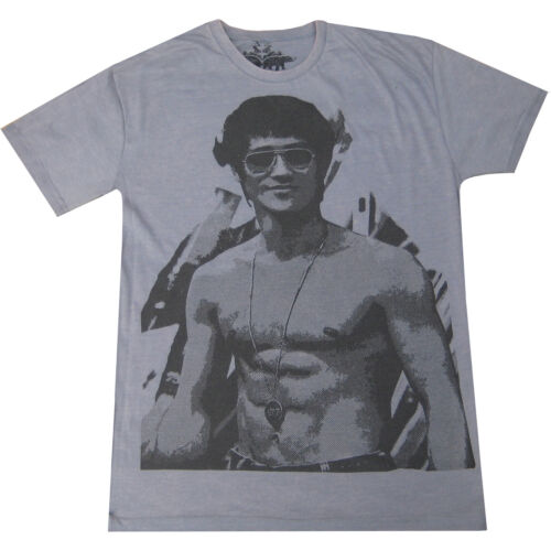 Homme Rétro Bruce Vintage KUNG FU Movie cool vintage Lee Poster T-shirt mélangé siz