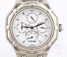 Men's Concord Saratoga Solid 18k White Gold Automatic Watch w/ Box