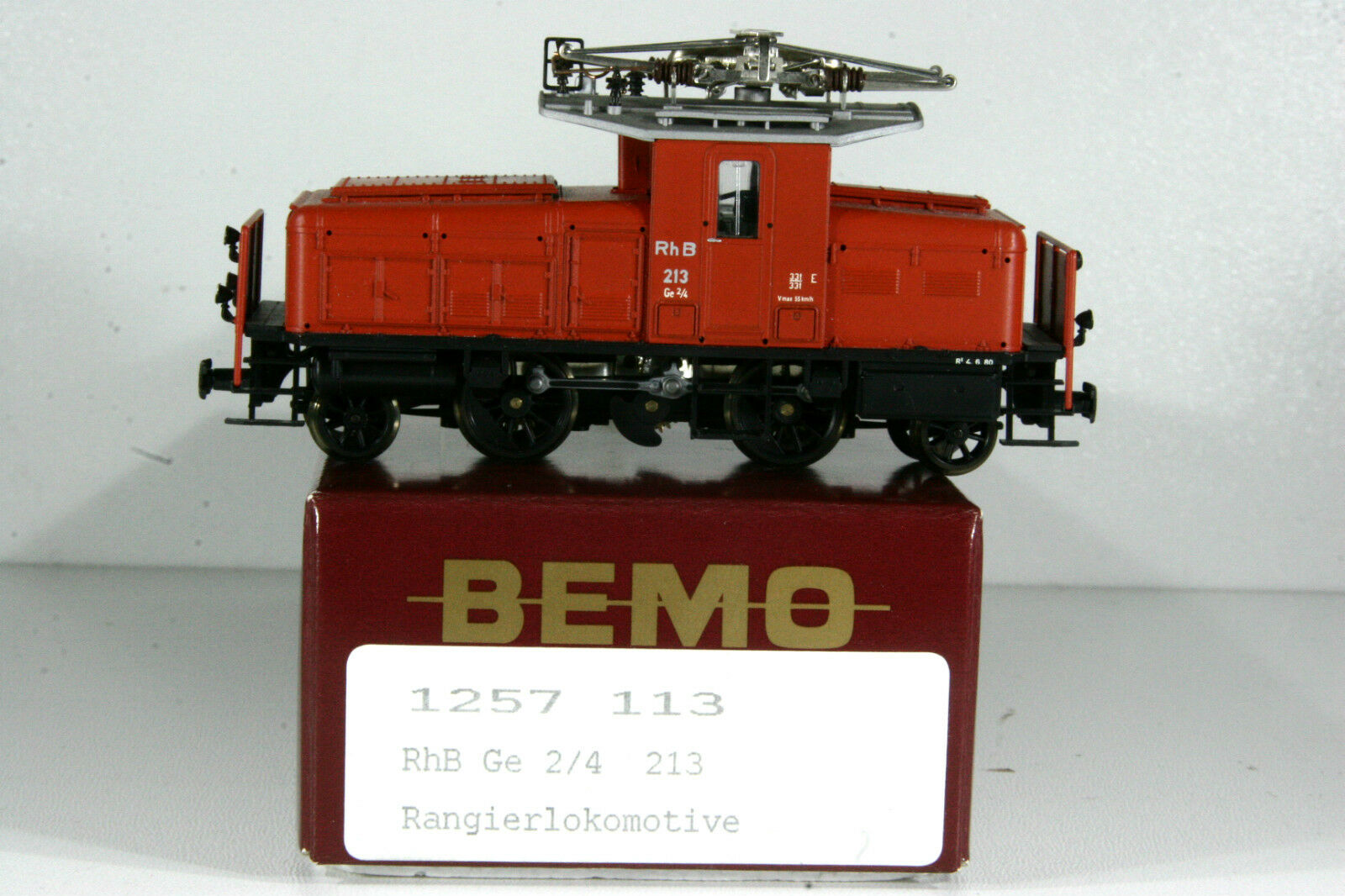 BEMO 1257 113 locomotiva, e-Lok, RHB Ge 2/4 213, traccia h0m, 12mm, TOP, OVP