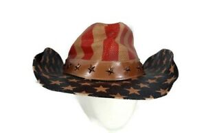 d02529e825eb7 USA FLAG Cowboy Hat Justice Drifter by Goldcoast Sunwear 100% Paper ...