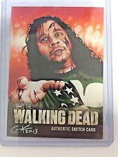 Cryptozoic SKETCH CARD Walking Dead S:2 Gary Kezele ZOMBIE Drummer Van Williams