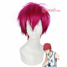 Anime 25cm Short Rose Red Akashi Seijuro Kuroko no Basket Cosplay full Wig ML197