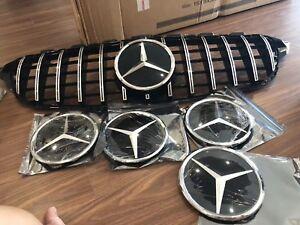 Mercedes Benz A-Class Gloss Black Front Grille Star Badge Emblem New