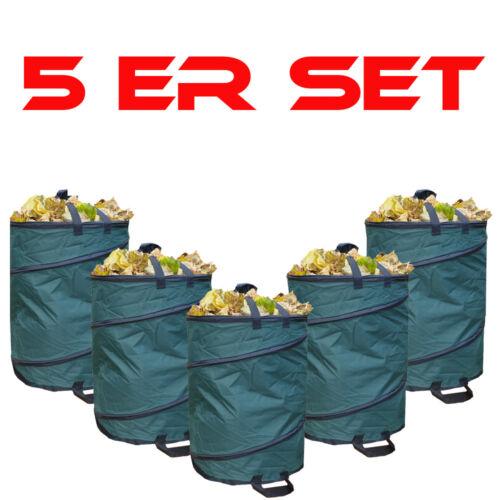 5er SPARSET Gartenabfallsack wetterfest  Nylon 110L Gartensack Laubsack Behälter