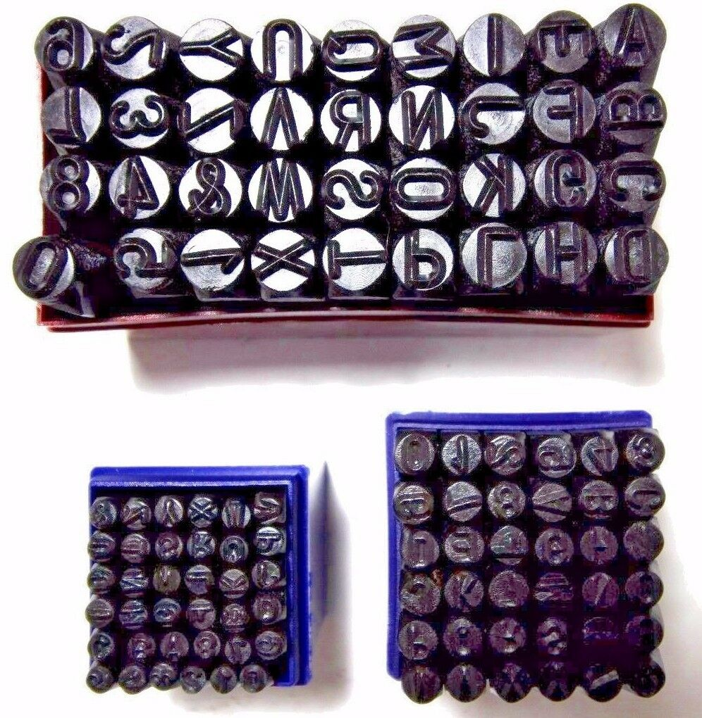 Steel Stamping Set 3 8  1 4  1 8  Letter Number Punch Marking Jewelers Metal New