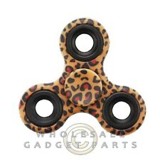 Triangle Fidget Spinner - Leopard Skin Bearing Focus EDC ADHD Finger Toy Hand