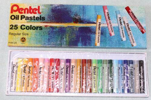 Certified AP Non-toxic NEW Pentel Arts Oil Pastels 25 Color Set PHN-25
