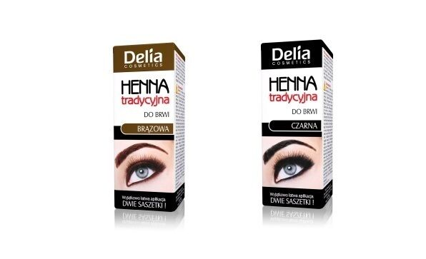 DELIA HENNA CREAM FOR EYEBROWS  BLACK BROWN