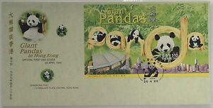1999-Hong-Kong-stamp-sheetlet-034-Giant-Pandas-in-Hong-Kong-034-GPO-FDC
