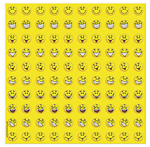 Sheet-of-100-Yellow-Smile-Faces-Mini-Stickers-Loot-Party-Bag-Fillers