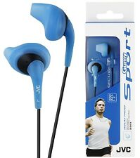 JVC HAEN10 BLUE Gumy Sports In Ear Headphones Sweat Proof Original / Brand New
