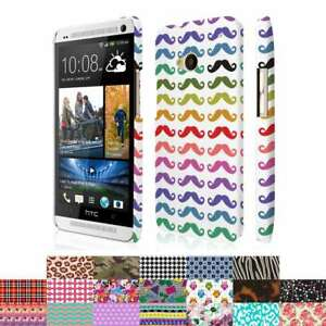 3b88fef0ed6 For HTC One M7 Design Patterns Ultra Thin Hard Case Cover Protector ...