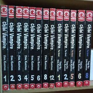 Chibi-Vampire-1-6-8-12-Lot-of-13-Shonen-Manga-English-16-Yuna-Kagesaki