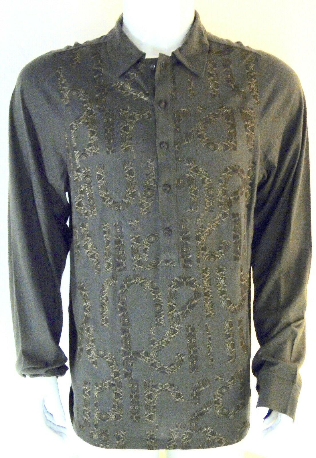 Roberto Cavalli Chemise  homme neuf ,verde ,Dimensione- 50 , 52 italien ,manches long