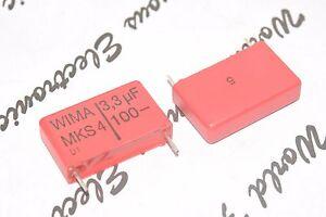 2pcs-WIMA-MKS4-3-3uF-3-3-F-100V-5-pitch-22-5mm-Capacitor