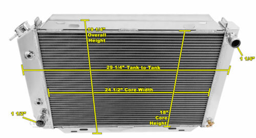 1988 1989 1990 1991 1992 1993 Ford Mustang 3 Row Radiator