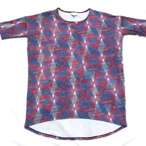 Pin Top Lularoe Fireworks Blue Wheel July Tee Irma Americana Red 4th White S Sz TrxrtORwq