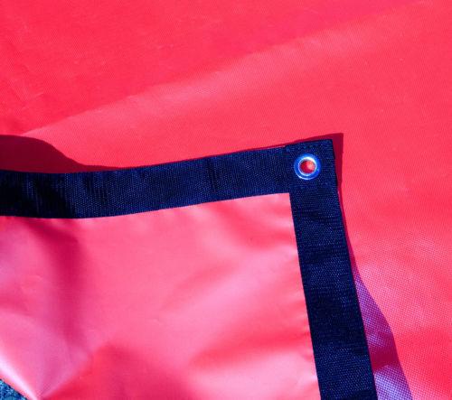 Vinyl w// Reinforced Edges Waterproof 18 Oz Tarp Red Heavy Duty