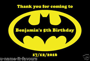Image Is Loading Personalised Batman Kids Birthday Gift Bag Noodle Box