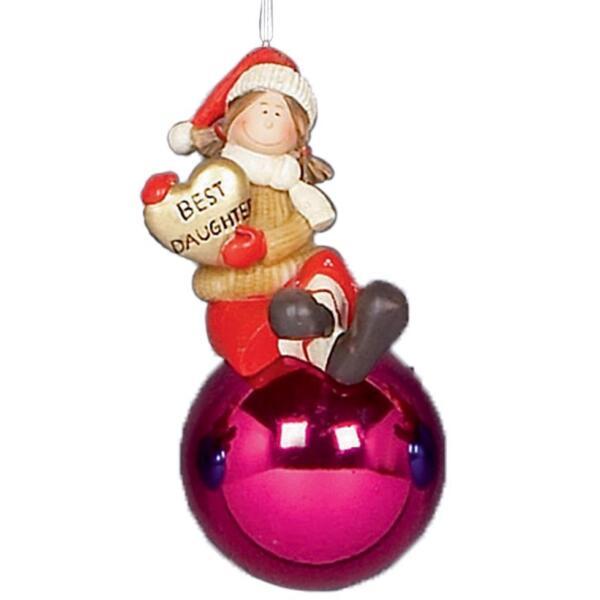 100% Vero Decorazioni Albero Di Natale Famiglia Personaggio 70mm Gingillo - Figlia Novel (In) Design;