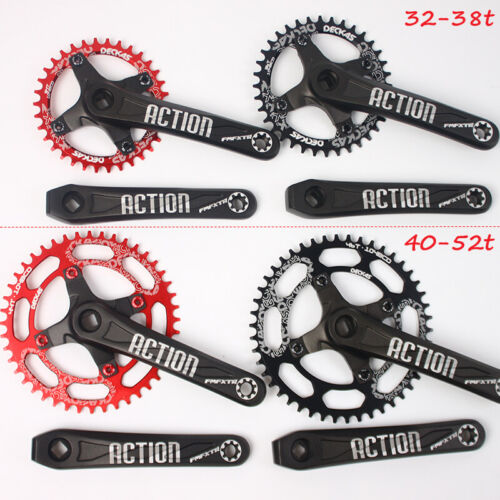 US DECKAS 32-52T 104bcd 170mm Single Crankset MTB BMX Bike Crank set Chainring