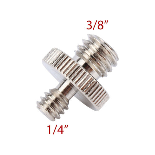 """1//4/"""" to 3//8/"""" Male Tripod Screw Thread Adapter Size Converter Male to Male"""